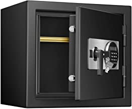 Cabinet Safes Electronic Steel Safe with Keypad and Emergency Key for Home Office Hotel Jewelry Cash Safe (Color : Black, ...