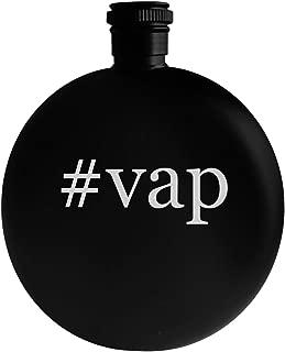 #vap - 5oz Hashtag Round Alcohol Drinking Flask, Black