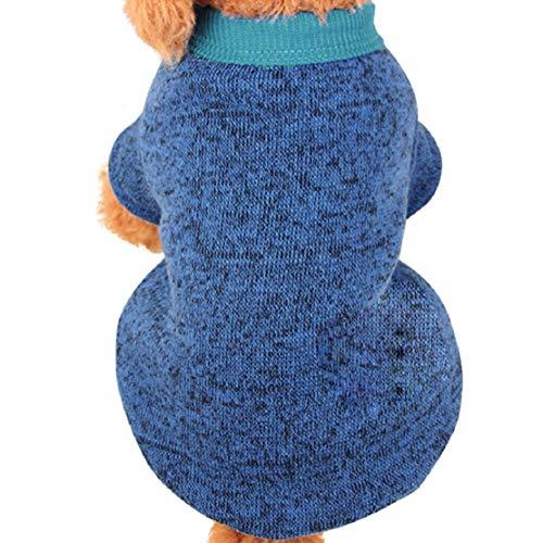 Bluelucon Huisdier-hondenwelpen-gebreide jas van fleece gebreid vest kleding warme gebreide jas Shuang teddybeer pupper pullover