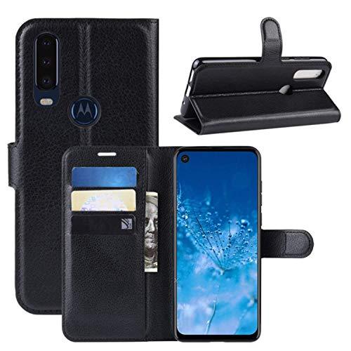 Capa Capinha Carteira 360 Para Motorola Moto One Action Tela De 6.3Polegadas Case Couro Flip Wallet - Danet (Preta)