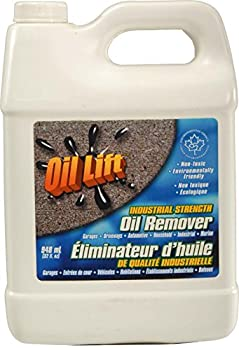 Oillift Industrial Strength Concentrated Non Toxic Oil Remover Removes Oil from Cement Asphalt and Most Surfaces Cleans up Oil from Garage Floors and driveways