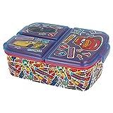 CARS | Caja de Almuerzo con 3 Compartimentos - Fiambrera Infantil para colegio - lonchera...