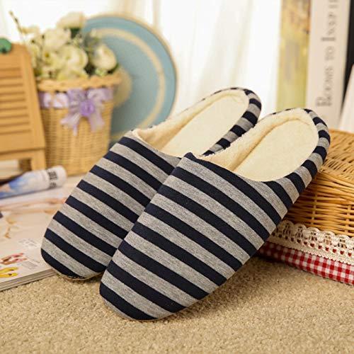 LLSPHYDY Zapatillas Mujer Zapatillas de Interior para Mujer, Zapatillas de habitación de Fondo Suave, Zapatillas de Dormitorio, Zapatillas de Rayas