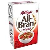 Kellogg's All-Bran, Breakfast Cereal, Original Wheat Bran, Excellent Source of Fiber, Single Serve, 1.76 oz Box(Pack of 70)
