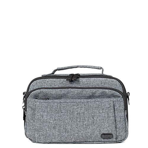 Lug Scoop Cross Body Bag, Heather Grey