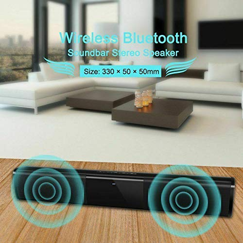 ShiningXX Barra de sonido inalámbrica Bluetooth sistema de altavoces TV Home Theater barra de sonido subwoofer