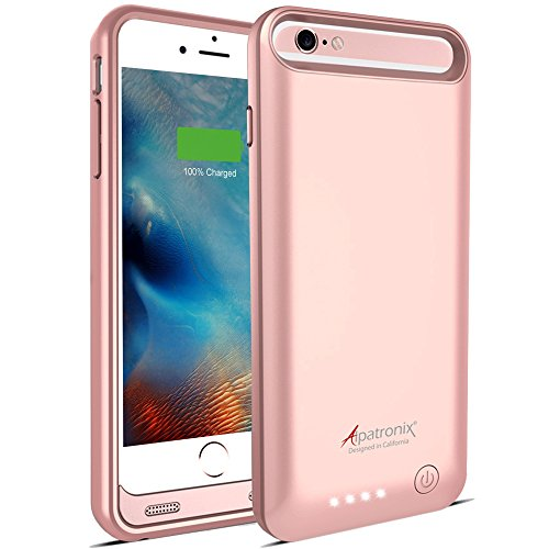 iPhone 6S/6 Battery Case, MFi Certified Slim Protective Extended Charging Case with Built-in Polymer Battery Compatible with iPhone 6S & iPhone 6 (4.7 inch) BX140 -Rose Gold