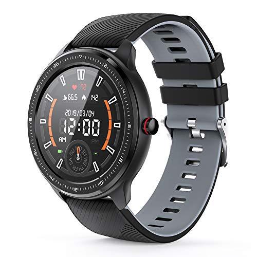 MOTOK Smartwatch Voll Touch Screen Blutdruck Uhr mit Pulsuhren Sport Uhr Aktivitätstracker Schlafmonitor Schrittzähler Smartwatch Damen Herren Smart Watch, Fitness Armband für iOS Android