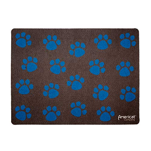 Americat Company Cat Feeding Mat for Food and Water Bowls - Machine Washable, Waterproof,...