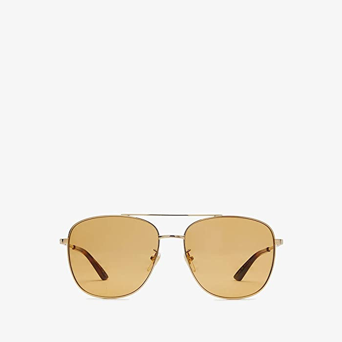 Gucci  GG0410SK (Gold/YellowithTortoise) Fashion Sunglasses