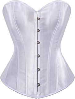 Senchanting Corsets for Women Corset Top Bustier Overbust Lace Up Corset Plus Size