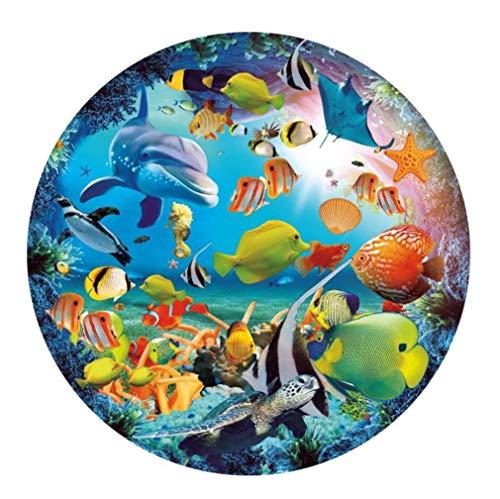CYBERNOVA 1000 Piezas Rompecabezas Redondos Ocean World Juego Intelectual para Adultos y niños
