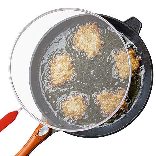 Mr. Kitchen 11' Stainless Steel - Splatter Screen For Frying Pan - Fine Mesh Splatter Guard; Handle Colors Vary