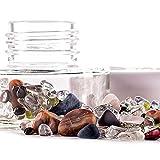 inu! di VitaJuwel Crystal Jar | 7 CHAKRA - Pietre preziose autentiche per preparare elisir di cristallo: quarzo chiaro, ametista, sodalite, quarzo rosa, peridoto, corniola, granato