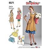 Simplicity US8571A 1940's Vintage Fashion...
