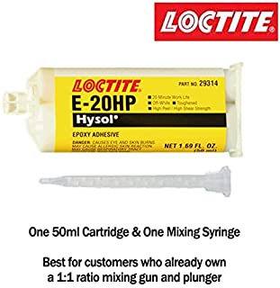 Loctite EA E-20HP (29314) Toughened High-Strength 20-Min Set Off-White Epoxy - 50ml/1.7oz Cartridge