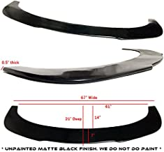 Universal Flat Diffuser Style Urethane Front Lower Splitter Lip (Measure To Ensure Fitments - 67
