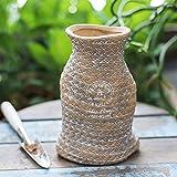 Bcaer Colgando de cerámica Pot Maceta de porcelana...