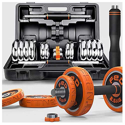 GF MZ FED Hantel Set in Studioqualität, Hantel Gusseisen in 3 Gewichtsklassen: 15-30 kg | MarkenqualitätOrange-20KG