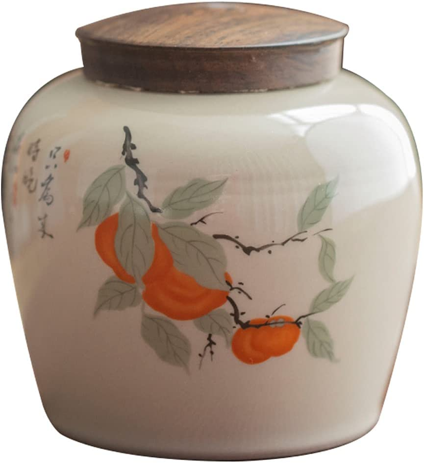 10cm Import Tea Caddy Household Sealed Ceramic Can Storage Tank online shop Pot