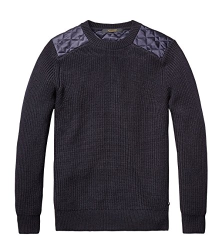 Scotch & Soda Pullover with Quilted Shoulders