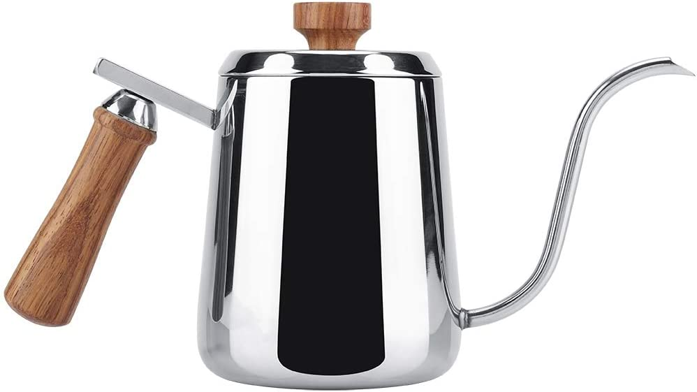304 Stainless Steel Gooseneck Pour Over Coffee Kettle, 350/600ml
