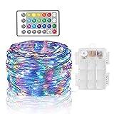 XLH 16 Farben, 4 Modi wasserdichte LED-Trampolinlampe Fernbedienung Rand-Trampolinlampen mit Batteriebox Trampolin-Licht Garten nachts im Freien gespielt