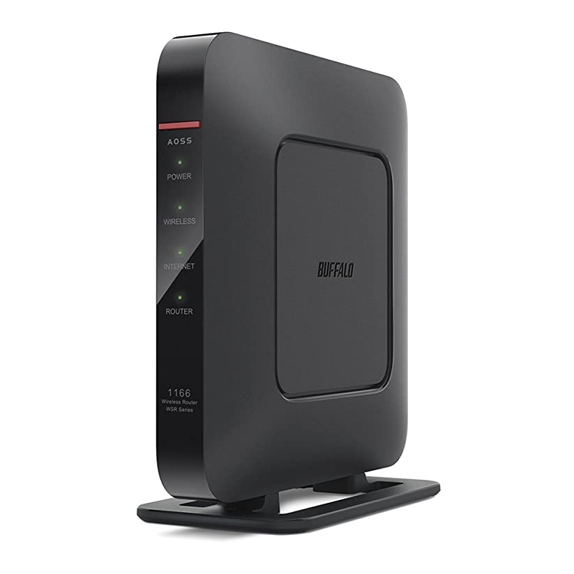 BUFFALO WiFi 無線LAN ルーター WSR-1166DHP2/N 11ac 866+433Mbps 3LDK 2階建向け 【iPhone8/iPhoneX/Echo メーカー動作確認済み】
