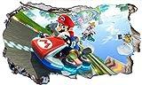 Super Mario Brothers Kart V711 Magic Window Wall Smash - Adhesivo decorativo para pared (1000 mm de ancho x 600 mm de profundidad)