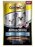 Gimcat Kitten Sticks con recurvo and Calcio, Paquete de 3