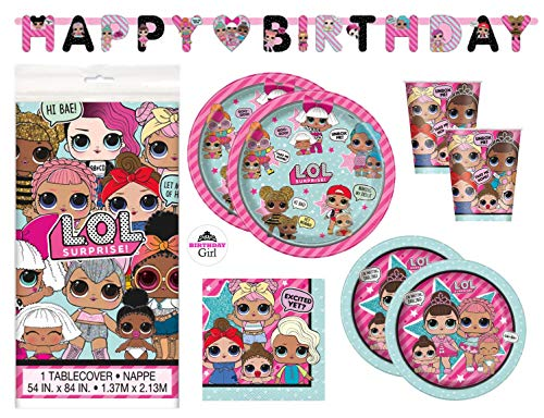 LOL Surprise Party Supply Set (Serves 16)