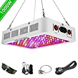 HELESIN 1000W LED Pflanzenlampe mit Veg/Bloom Schalter, Vollspektrum LED Grow Light Pflanzenlicht mit Daisy Chain Funktion...