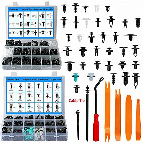 Car Retainer Clips 32 Most Popular Sizes Fasteners 729 PCS Automotive Plastic...