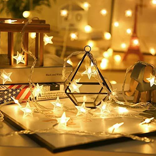 39ft 100 LED Solar Star String Lights, E-POWIND Waterproof Starry Christmas Light - Solar/Battery Powered, Warm White, 8 Lighting Modes