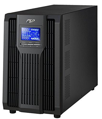 FSP Fortron Champ Tower 3k, echte Doppelwandler Online-USV,3000 VA / 2700 W, bis 300VAC, mit USB, RS-232 ,Eingangsleistungsfaktor-Korrektur, Generator kompatibel, Transfer Zeit 4 ms (Typical)