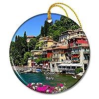 イタリアコモバレンナ湖クリスマスオーナメントセラミックシート旅行お土産ギフト