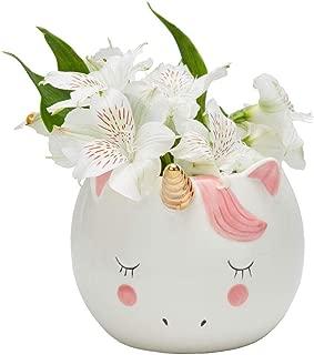 Streamline Sweet Unicorn Porcelain Flower Planter Pot
