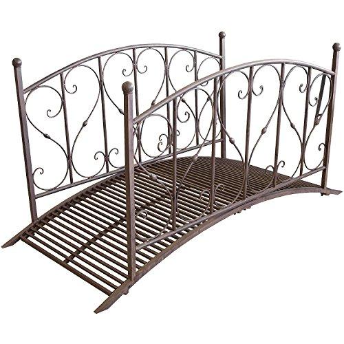 Gartenbrücke aus Metall mit Geländer - 4