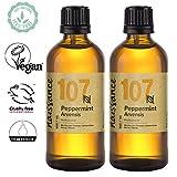 Naissance Peppermint/Ackerminze/Mentha Arvensis (Nr. 107) 200ml (2x100ml) 100% reines ätherisches...