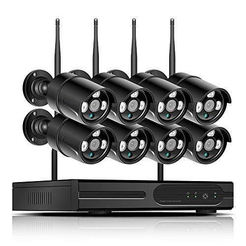 TLMYDD Cámara CCTV Inalámbrica, Cámara De Seguridad For El Hogar, Control Remoto De Visión Nocturna, Detección De Movimiento Plug and Play Cámara de Seguridad (Size : A)
