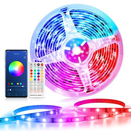 Smart Striscia LED 5m WiFi, Etersky Smart RGB Striscia di Luci Led Intelligente RGB 5050 Compatibile con Alexa Echo e Google Home, Strip Led con Telecomando per Casa, Cucina, Bar, Varie Festa, TV