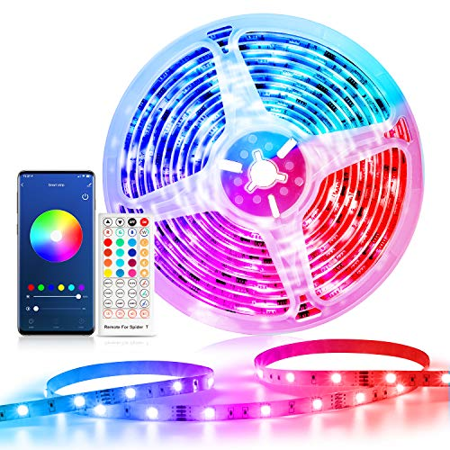 Smart Striscia LED 5m WiFi, Etersky Smart RGB Striscia di Luci Led Intelligente RGB 5050 Compatibile...
