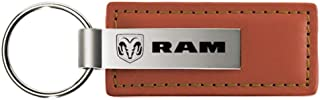 Dodge Ram Brown Leather Key Fob Authentic Logo Key Chain Key Ring Keychain Lanyard by DanteGTS