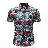 Camisa Casual Hombre Botón Vintage Tapeta Cuello Kent Camisa...