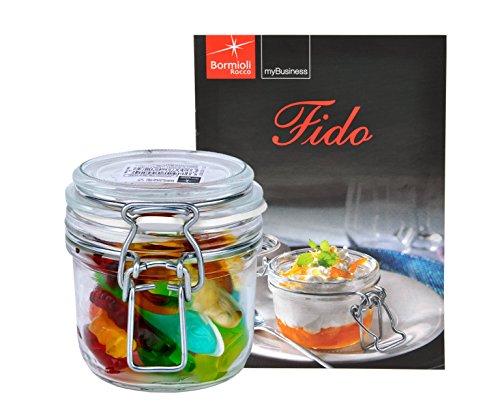 Bormioli Rocco Fido - Bocal en verre à armature métallique - Différentes tailles au choix, Verre, 0,2 Liter