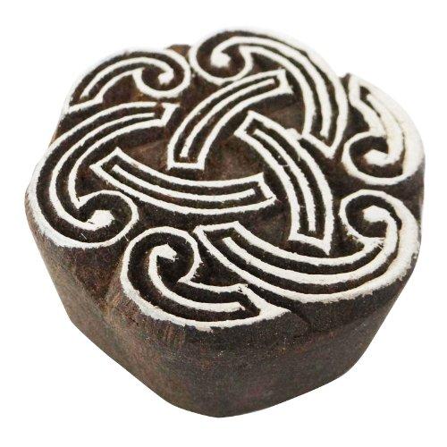 IBA Indianbeautifulart Textile Block-Spirale Entwurfs-Druck Holzblock Textildruck auf Stoff-Stempel