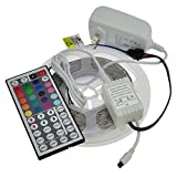 LEDwholesalers 12-Volt 16.4-ft RGB Color-Changing Kit with Controller...