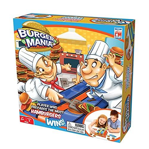 Fotorama Burger Mania Sizzling Build-A-Burger Game, cinta transportadora de...