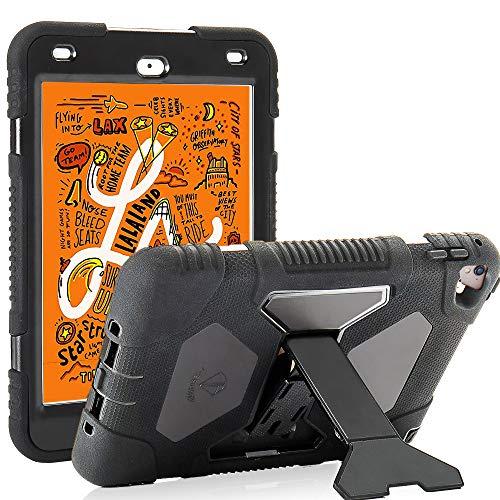 iPad Mini 5 Case 2019 7.9 for Kids ACEGUARDER Silicone Cover with Adjustable Kickstand for iPad Mini 4 Mini 5 Case(Black)