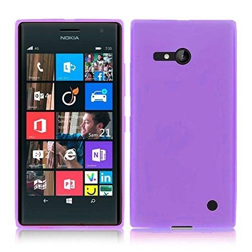 TBOC® Lila Gel TPU Hülle für Nokia Lumia 730 Dual SIM Superdünn Flexibel Silikonhülle